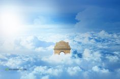 India gate on Clouds Photo Manipulation Advanced Photoshop Tutorial :http://harshvardhanart.com/india-gate-clouds-photo-manipulation-advanced-photoshop-tutorial/