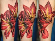 Andy Engel tattoo - BEST lily tattoo I've seen yet......I MUST have mine similar to these.....