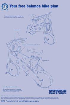 muebles de madera, bicicleta de madera