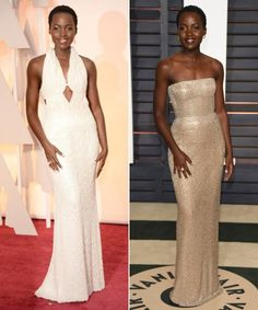 2015 Oscars Fashion:Lupita's Before and After-Party Dresses  #InStyle