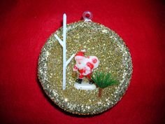 Vintage Christmas Santa Claus Ornament by TillyFritz on Etsy, $5.99