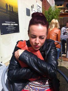 Stephanie Davis, Liverpool, Leather Pants, Gloves, Fashion, Moda, La Mode, Lederhosen, Fasion