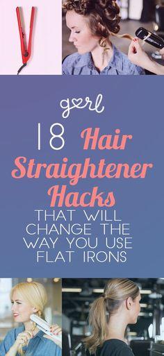 18 #Hair #Straightener Tricks That Will Change The Way You Use A #Flat #Iron  via @gurlcom