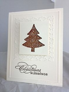 Embossed & Glittered Tree Card...by Create with Connie and Mary.