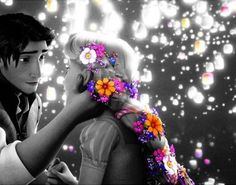 Love this! Rupunzel and Flynn Rider. that look!! omg im going to melt ^_^ i cant wait tell someone looks at me like that <3