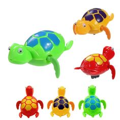 Color send randomly!!! 1 pcs 2016 Newest Bath Time Wind up Swimming Turtles Pool Animal Toy For Baby Kids Best Gifts