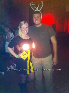 Deer in Headlights Couple Costume with Real Lights!... Coolest Homemade Costumes