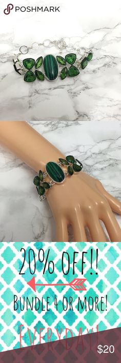 ✨Green Resin Statement Bracelet This is new S Rosebud Fashions Jewelry Bracelets