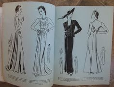 Vogue Pattern Book, December-January 1937-38 featuring Vogue 537 and 533 on the left page, 541 and 531 on the right page