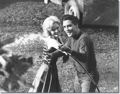 Tuesday Weld and Elvis Presley having fun on the set of - Wild In The Country