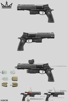 ArtStation - Vaincre sketches and variations, Will JinHo Bik Sci Fi Weapons, Weapon Concept Art, Fantasy Weapons, Weapons Guns, Guns And Ammo, Tactical Truck, Minecraft Drawings, Apocalypse Art, Future Weapons