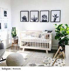 Nursery Animal Print Lion Wall Art Kids Room Poster