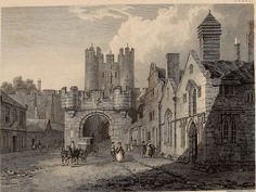 How Medieval England looked 200 years ago. Micklegate, City of York