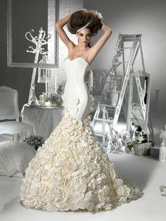 mermaid wedding gowns | Pearl Wedding Gownmermaid Skirt Floral Mermaid Wedding Gowns,