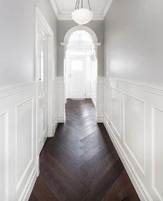 Epsom Residence - Kustom Timber & Leilah and Lyla Home House Design, Interior, Home, Victorian Hallway, House Flooring, Hamptons House, House Styles, House Inspiration, Hallway Designs