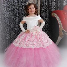 Find More Flower Girl Dresses Information about Custom Made White Satin Pink Puffy Toddler Ball Gown Girls Frock Designs Abiti Da Comunione Vintage Lace Flower Girl Dresses,High Quality designer flower girl dresses,China flower girl dresses Suppliers, Cheap lace flower girl dresses from VougeMarket on Aliexpress.com