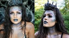 Dark Glittery Mermaid Halloween Makeup | Collab with Jessica Gilmartin