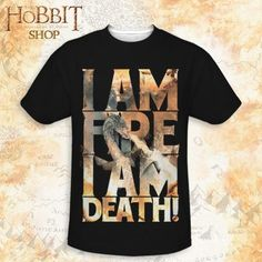 The Hobbit: The Battle of the Five Armies I am Fire Sublimation Allover Print Adult T-shirt The Hobbit Jrr Tolkien, Nerd Merch, Lotr Trilogy, Nerd Outfits, Geek Out, Middle Earth, Lord Of The Rings, Book Nerd, Everyday Fashion