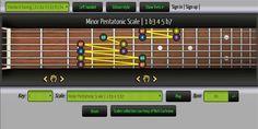 Improve your guitar skills: interactive chords and scales finder, fretboard geometry, ear     training guitar browser games