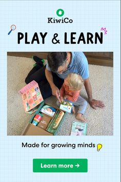 Hands On Fun & Learning for Toddlers, Delivered Monthly : Get monthly science & art projects for your child! Kiwico inspires your kids to create, explore, and learn. Preschool Learning Activities, Indoor Activities For Kids, Infant Activities, Fun Learning, Fun Activities, Activity Ideas, Student Learning, Physical Activities, Baby Sensory