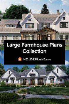 Want exterior farmhouse ideas? Check out our collection of large farmhouse plans. You'll find rustic farmhouse plans, new farmhouse plans, modern farmhouse ideas, and more in this collection. Questions? Call 1-800-913-2350 today. #blog #architecture #modern #bungalow #architect #architecture #buildingdesign #country #craftsman #houseplan #homeplan #house #home #homeblog Farmhouse Floor Plans, Farmhouse Ideas, Rustic Farmhouse, Modern Farmhouse Design, Build Your Own House, Modern Bungalow, Plan Design, Building Design, Craftsman
