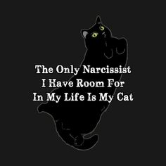 Check out this awesome 'Narcissist+Cat' design on @TeePublic! #BlackCat