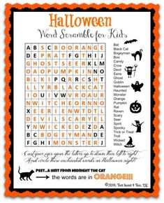 Halloween Word Scram