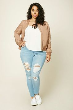Plus Size Distressed Jeans | Forever 21 PLUS - 2000191284