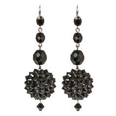 Black Dahila earrings by Tarina Tarantino