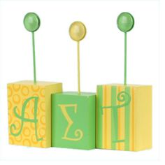 Alpha Sigma Tau Sorority Letter Photo Holder - $12.99 or we could totally make this