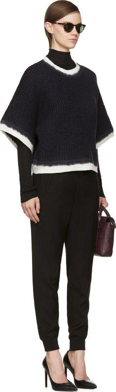 3.1 Phillip Lim Navy Dip-Dye Sweater                                                                                                                                                                                 More
