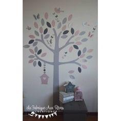 Sur commande - délai +/- 1 mois Papillon Rose, Decoration, Decals, Frame, Home Decor, Grey, Owl Bird, Hobby Lobby Bedroom, Girl Room