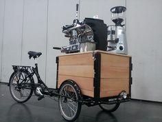 Portland bicycle coffee cart   ... » Portland's coffee bike arms race (and other cargo bike news