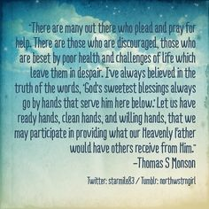 Priesthood Power, Thomas S. Monson, October, 1999, General Conference