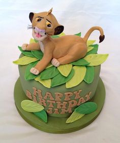 Simba cake :) (the lion king) Birthday Ideas, Birthday Cake, Lion King Cakes, 3d Cakes, Cake Board, Disney Cakes, Take The Cake, Mickey And Friends, Disney Inspired