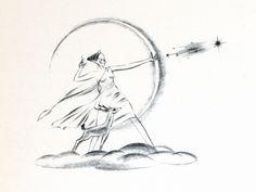 disney fantasia artemis sketch