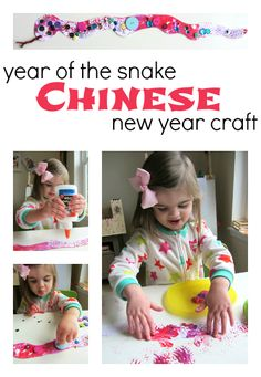 Year of the Snake- make a fun and fancy snake with your kids and learn a little about Chinese New Year . { Includes Picture Book Recs!}