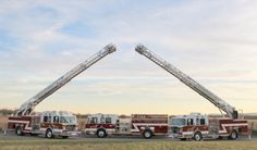 Two Toyne Aerials and a Pumper on display by the Murfreesboro Fire Department in Murfreesboro, TN.