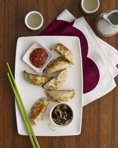 Add a little bit of Asian flair to your dinner with chicken pot stickers, ready to eat in just a few short minutes! Pair it with some scallion and sesame seed infused soy sauce or chili paste for that extra spice of flavor. Pour yourself a glass of sake and enjoy!