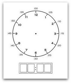 Clock Printable to help teach how to tell time. Love this idea!