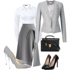 A fashion look from January 2016 featuring Donna Karan blouses, Thierry Mugler blazers and Chicwish skirts. Browse and shop related looks.