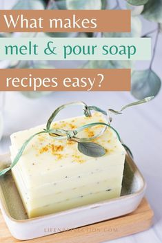 This melt and pour soap recipe for lemon poppy soap is full of zing! From it's zesty lemon scent to it's bright yellow color, I can't get enough. But, the best part is the exfoliating texture of the poppy seeds.