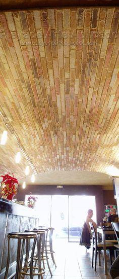 decoracin de techo con ladrillo artificial
