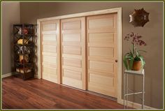 Nice Triple Track Bypass Closet Doors | Home Design Ideas