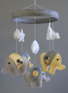 Baby Crib Mobile Baby Mobile Baby Elephant by LoveAllDesigns, $85.00