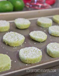 Margarita Cookies With Salty Sweet Tequila Glaze
