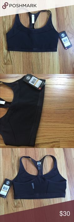 Brand new under armour sports bra Brand new with tags still on. It's slightly padded and very comfy. It has mesh design in the front and back. I have the same one in a different color and it's probably the most comfortable sports bra I've ever worn. Under Armour Other