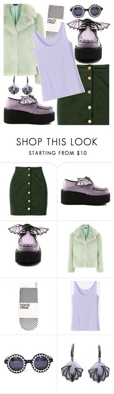 """Bat Wings"" by maryjayseven ❤ liked on Polyvore featuring Boohoo, Demonia, Topshop, Uniqlo and Witch Worldwide"