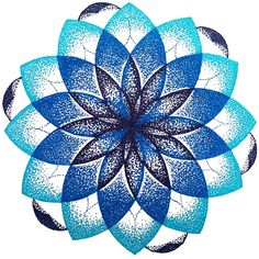 Blue dotted mandala by M-Curiosity on deviantART