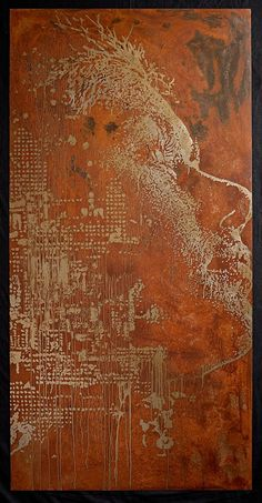 """Vhils, """"Portuguese artist Alexandre Farto (1987) has been interacting visually with the urban environment under the name of Vhils since his days as a prolific graffiti writer in the early 2000s."""""""